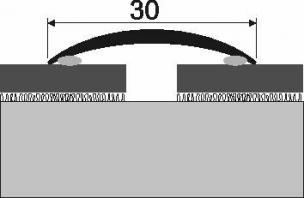 Přechodová lišta s dřevěnou dýhou 30 mm samolepící  (cena za bm)