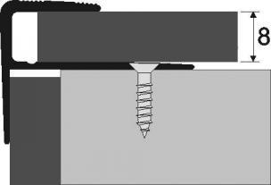 Schodová hrana pro laminát šroubovací, elox (cena za bm)