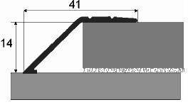 Nájezd 14 mm elox samolepicí 270 cm (cena za bm)