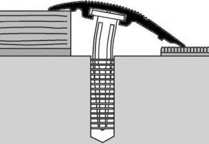 Přechodové lišty narážecí 38 mm elox (cena za bm)