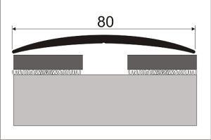 Přechodová lišta 80 mm samolepící, imitace dřeva 100 cm
